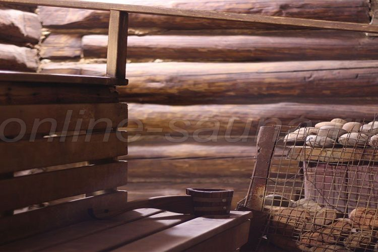 Сибирская баня на дровах